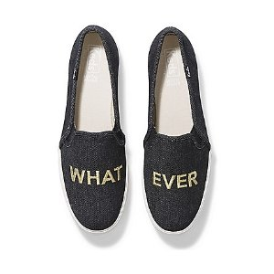 KedsTriple Decker Embroidery 'WHAT EVER'