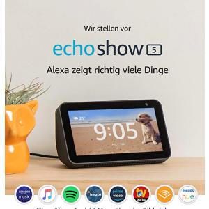 只要89€德亚Echo Show 5 疫情宅家必备智能居家帮手 视频聊天 宝宝监控 接打电话 新闻播报