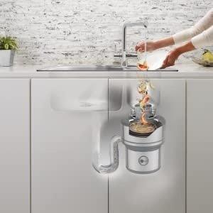 $350.6(原价$392.9)InSinkErator 下水道厨余垃圾粉碎机 一键操作 告别下水道堵塞