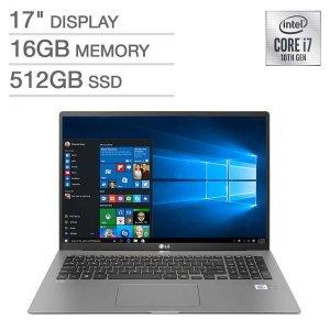 $1099.97LG gram 17Z90N Laptop (i7-1065G7, 16GB, 512GB)
