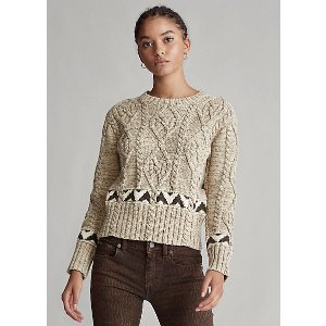Ralph LaurenKnit Cotton-Blend Sweater