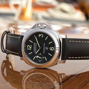 Extra $100 OffDealmoon Exclusive: PANERAI Luminor Marina Black Dial Men's Watch PAM00776
