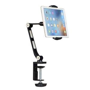 黑色款$19.99 白色款$20.99Suptek 铝制手机 平板桌面支架 360度可调 两色可选