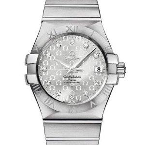 额外减$500 $2995+包邮免税OMEGA 星座系列镶钻机械男表 女生同样适合
