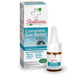 Similasan Complete Eye Relief Eye Drops 0.33 Ounce Bottle, for Temporary Relief from Red Eyes, Dry Eyes, Burning Eyes, Watery Eyes