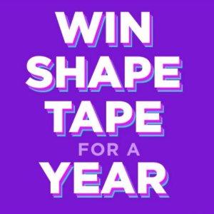 SweepstakeTarte Win Shape Tape for a Year