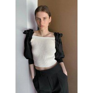 Zara拼色针织上衣