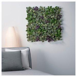 FEJKA Artificial plant - wall mounted, indoor/outdoor green/lilac - IKEA