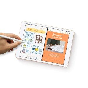 128GB $329 送礼好选iPad 7代 10.2吋 金色黑五价回归, 支持Apple Pencil/Sidecar分屏
