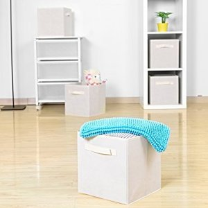 $8 Collapsible Storage Bins MaidMAX Set of 6 Foldable Nonwoven Cloth Organizers Basket Cubes with  sc 1 st  Dealmoon.com & $8 Collapsible Storage Bins MaidMAX Set of 6 Foldable Nonwoven ...