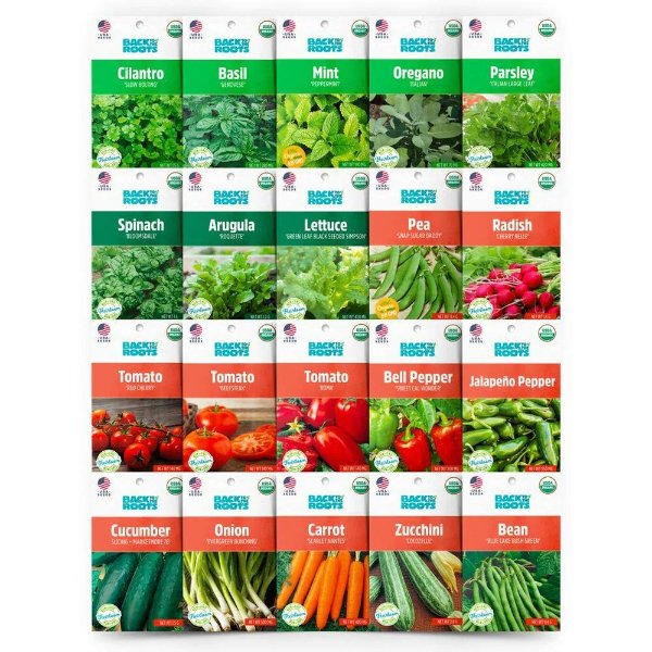 有机香草和蔬菜种子(20包)