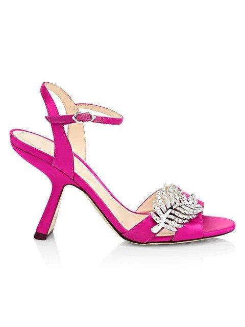 钻叶高跟鞋鞋