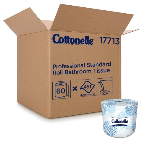 Cottonelle Professional Bulk Toilet Paper for Business 2-PLY, White, 60 Rolls