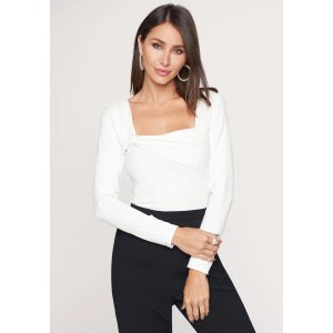 Bebe20% off $150 with code AUG2019Square Neck Top
