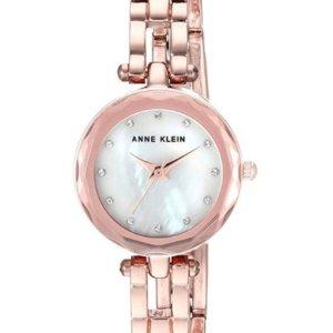 Lowest PriceAnne Klein Women's Swarovski Crystal Accented Rose Gold-Tone Open Bracelet Watch