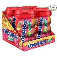 Mentos 无糖口香糖 热带水果+青柠口味 50粒装 共4瓶
