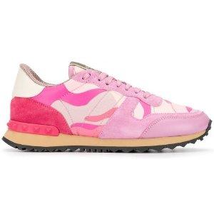 Valentino Garavani粉色铆钉运动鞋