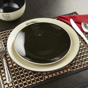As Low As $9.97Mainstays La Francaise 12-Piece Round Stoneware Dinnerware Set
