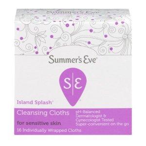 $1.72 白菜价Summer's Eve 女性私处清洁湿巾 16张