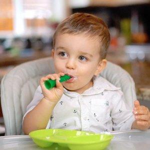 8折 绿芽餐勺补货补货:Olababy 彩趣硅胶奶瓶、餐具特卖