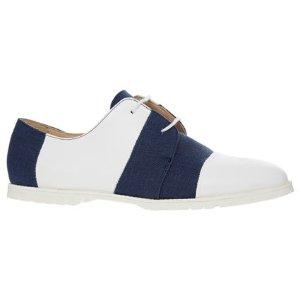 Emporio ArmaniBlue & White 蓝白条纹平底鞋