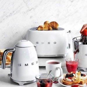 全场8折 高颜值马卡龙色最后一天:SMEG 意大利轻奢厨房电器 让清晨充满复古艺术感