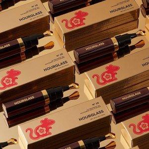 限时9折 £50收三色高光盘Hourglass 全线彩妆热卖 入情人节限定烟管口红套装