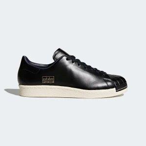 AdidasSuperstar 80s 纯黑运动鞋
