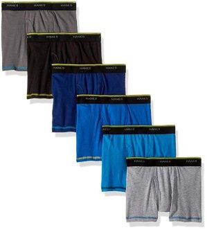 $7.31 码全白菜价:Hanes 男童清凉透气款平角内裤6件套