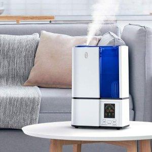 TaoTronics 超声波静音冷雾加湿器,4L大容量