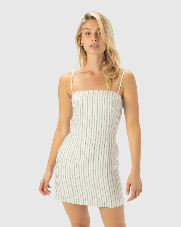 Fitted 条纹连衣裙
