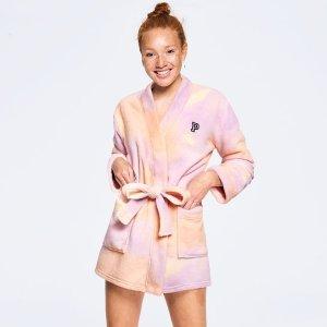 $9.99(原价$49.95)闪购:Victoria's Secret PINK 泰迪毛绒浴袍