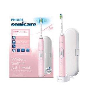 $89.95 (原价$129.99) 包邮Philips Sonicare 6100 美白电动牙刷 3色可选