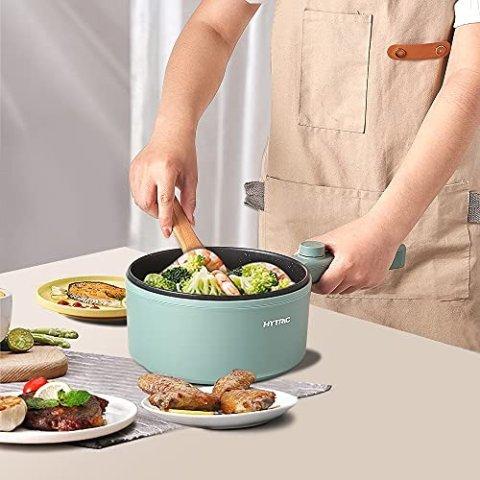 低至€19.27 小火锅安排起来Amazon 小电锅专场 一体化设计 可煎、煮、炖、炒多功能