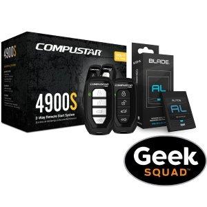 Compustar - 4900S 2-Way Remote Start System, Tilt Switch & Geek Squad® Installation