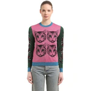 Gucci猫咪针织衫