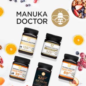 全场低至3折+额外8.5折独家:Manuka Doctor官网 爆款蜂蜜特卖,625MGO1.1磅仅$72