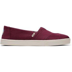 Toms大红色平底鞋