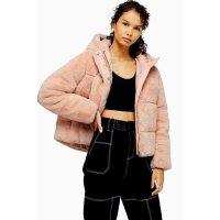 Topshop 粉色毛外套