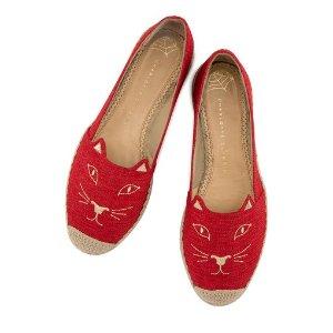 Charlotte OlympiaWomen's Designer Flat Shoes |- KITTY ESPADRILLE