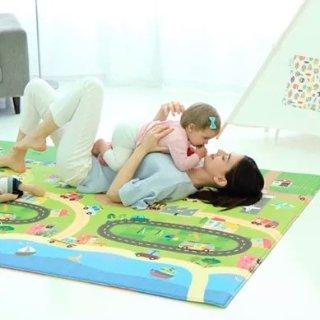 7.5折 低至$32.24BABYCARE 宝宝爬行垫特卖 双面图案,厚薄两款