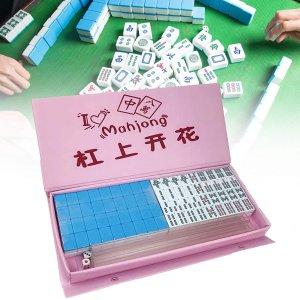 仅售€28.63 法亚满分好评Seawood 迷你麻将热卖 粉蓝绿三色可选 是时候入一副国粹啦