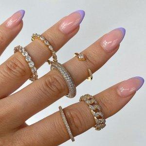 低至4折 £6入桃心戒指Objekts 小众平价饰品 手链、戒指 bling bling 毫无抵抗力