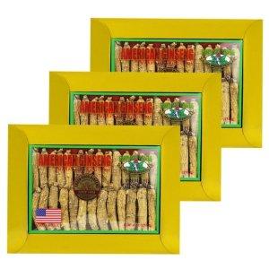 Half Short American Ginseng Medium Small 4oz x 3