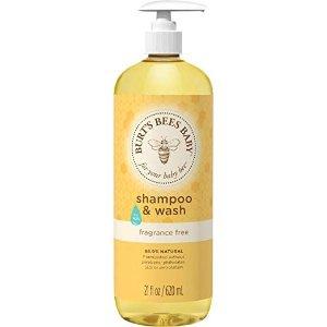 Burt's Bees BabyBurt's Bees Baby Shampoo & Wash, Fragrance Free & Tear Free Baby Soap - 21 Ounce Bottle