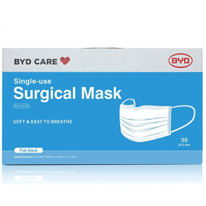 As Low As $3.99BYD Procedural Mask (Non Sterile), Blue (50 Masks/Box)