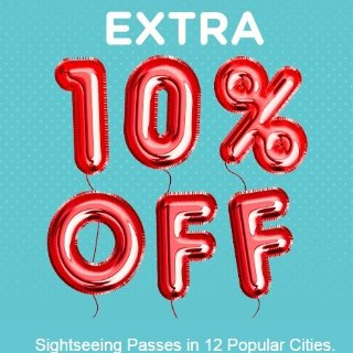 Save up to 55%+Extra 10% OffLast Day: GoCityCard Happy Fun Year Sale