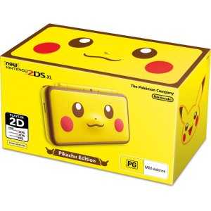 $198   限定版,收藏价值高Nintendo 任天堂 New 2DS XL 皮卡丘游戏掌机