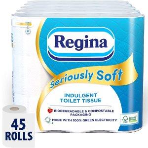 36p/卷 订阅再享8折Regina 超软卫生卷纸45个