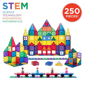 Dealmoon Exclusive! $69.99 + Free Shipping250-Piece Kids STEM 3D Rainbow Magnetic Building Block Tile Toy Play Set